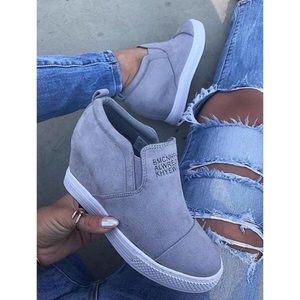 Shoes - Wedge Heel Sneakers
